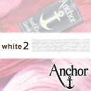 WHITE 2 Anchor Pearl Cotton 3