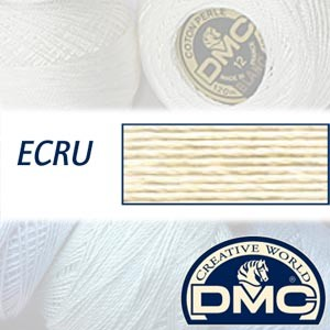 ECRU DMC Pearl Cotton 12 Balls
